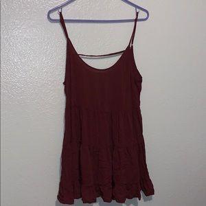 Brandy Jada Maroon Dress